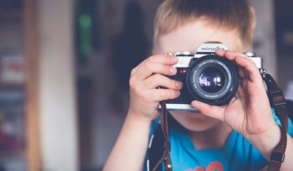 Boy with Digital Camera