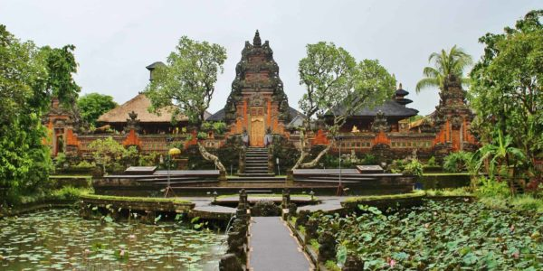 View of a temple in Bali Indonesia