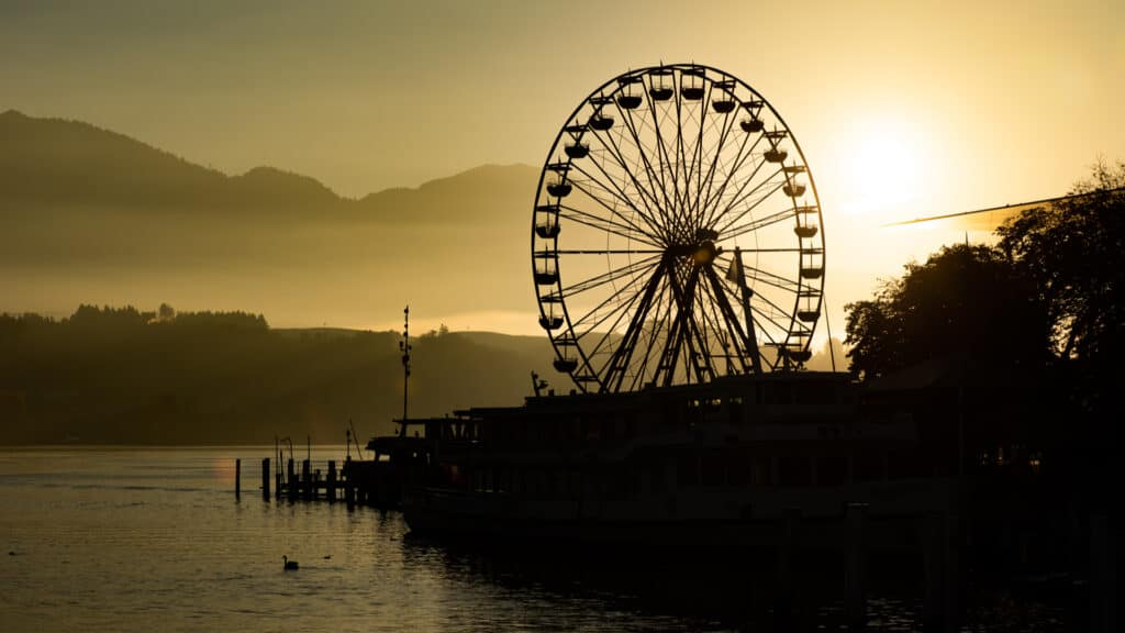 Ferris wheel at the Määs City Festival in Lucerne, Switzerland