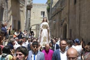 Madonna at festa della Bruna festival in Matera, Italy