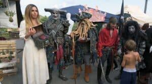 Participants at the Festa dell Unicorno, Vinci, Italy