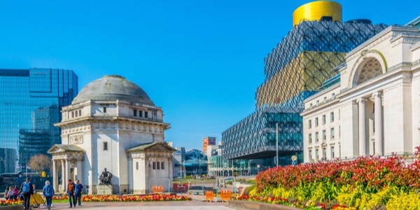 Baskerville house and library in Birmingham, England, U.K.