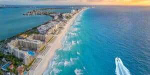 Beaches and hotels of Cancun, Mexico