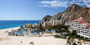 Condos, apartments, and pool with beach in Los Cabos, Mexico