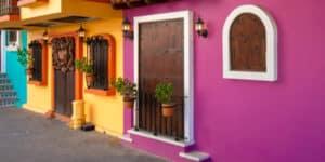 Restaurants and cafes in Puerto Vallarta, Mexico on Playa De Los Muertos beach and pier