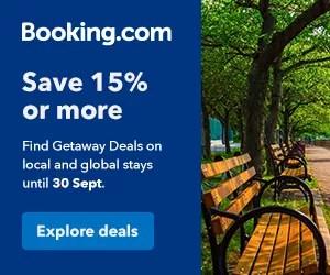 Booking.com Getaway Deals Save 15% or more