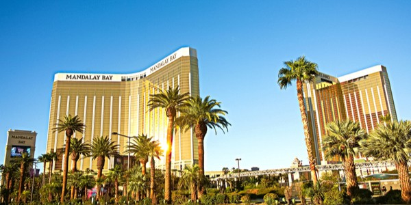 Mandalay Bay Hotel in Las Vegas, Nevada, USA - one of the biggest hotel in the world