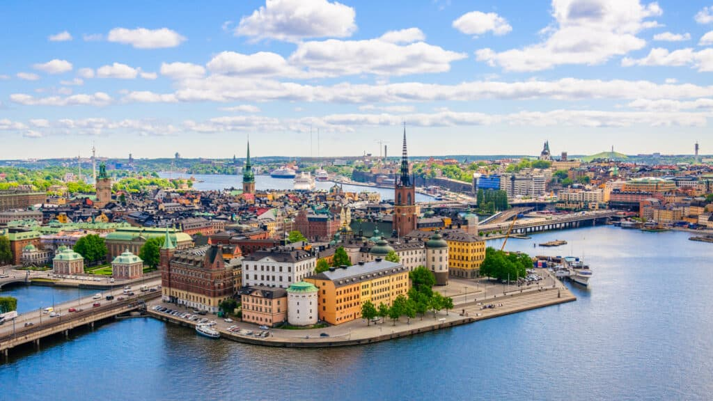 View of the Old Town, Gamla Stan, in Stockholm, Sweden